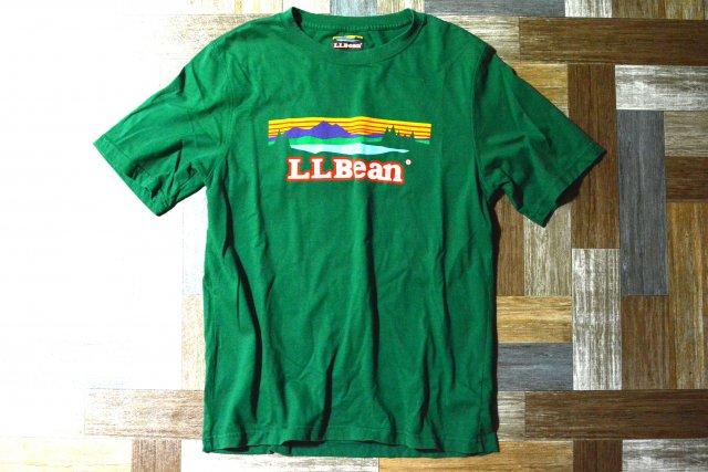 L.L.Bean ロゴ Tシャツ グリーン (メンズ古着)