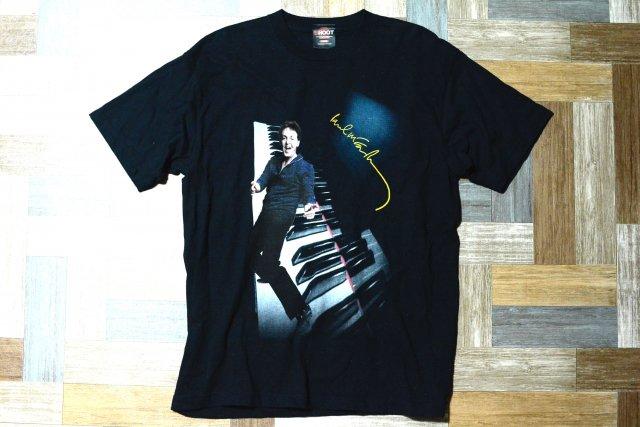 00's Paul McCartney DRIVING JAPAN オフィシャル ツアー Tシャツ ブラック (メンズ古着)