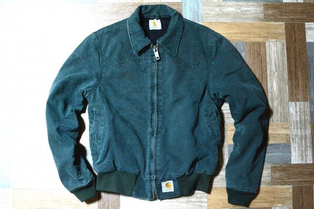 90's Vintage carhartt ダック サンタフェ ジャケット グリーン (メンズ古着)