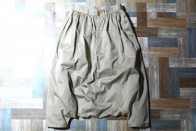 robe de chambre COMME des GARCONS AD2004 タック入り サルエル チノ ベージュ (レディース古着)