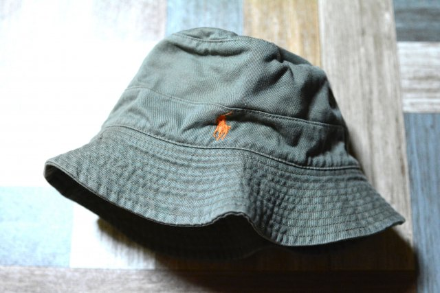 POLO RALPH LAUREN ロゴ バケットハット カーキ (USED&VINTAGE)
