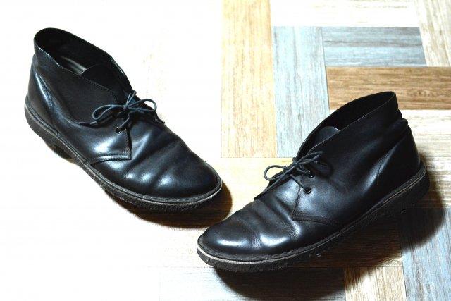 Clarks レザー デザートブーツ ブラック (メンズ古着)