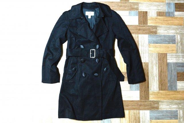 COMME des GARCONS H&M コラボ トレンチコート ブラック (レディース古着)