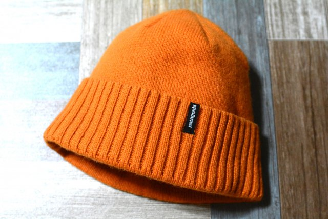 patagonia メリノウール ニットキャップ オレンジ (USED&VINTAGE)