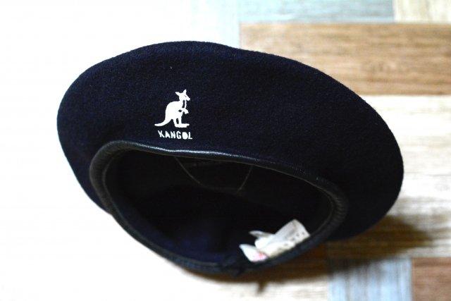 90's Vintage KANGOL イギリス製 ウール ベレー帽 ネイビー (USED&VINTAGE)