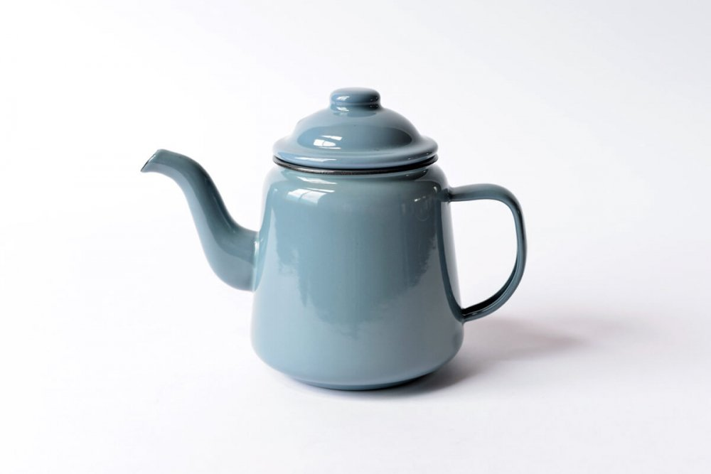 ENAMEL TEA POT - GREY