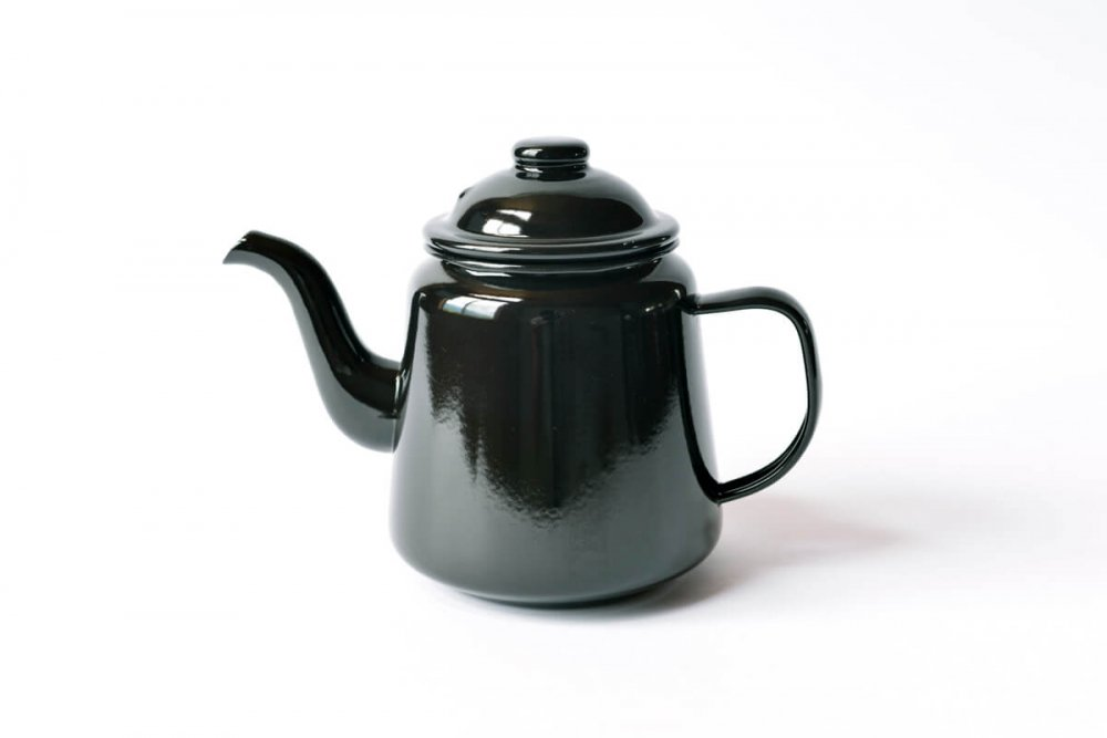 ENAMEL TEA POT - BLACK