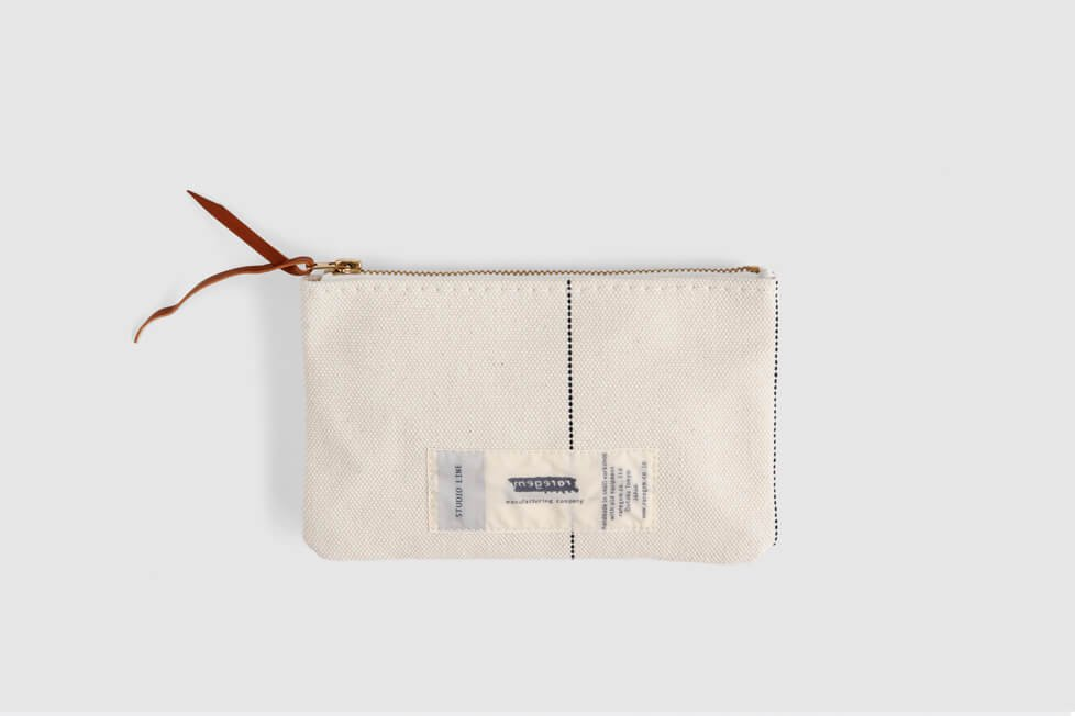 FLAT BAG - CANVAS NAVY LINE BR ZIP