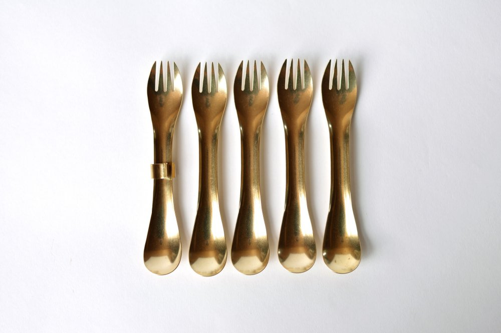 LUE BRASS SPORK SET