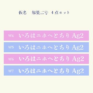 仮名 解築二号  Set