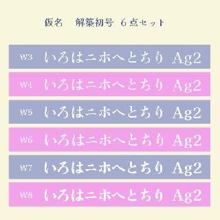 仮名 解築初号 Set