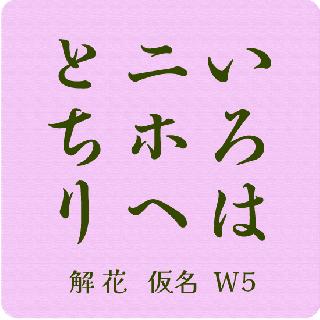 仮名 解  花 W5