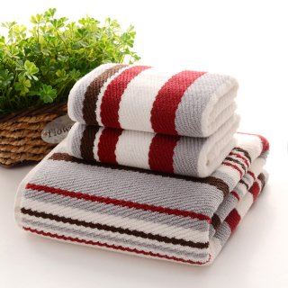 お洒落な高級長綿タオル Towel2 バスタオル レッド