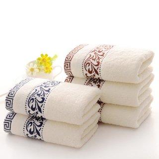 お洒落な高級長綿タオル Towel3 フェイスタオル ブラウン