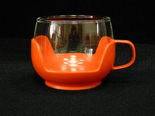 プラスチックホルダー付カップ オレンジ