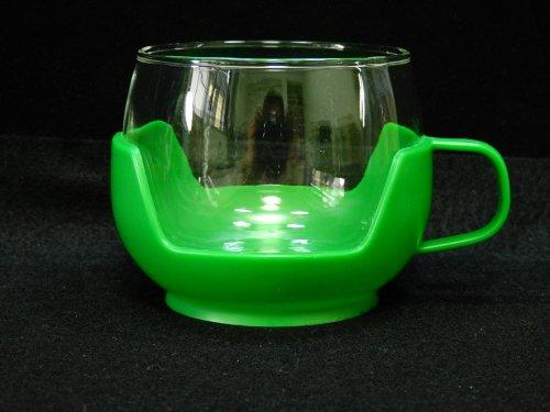 プラスチックホルダー付カップ グリーン