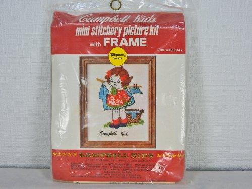 キャンベルキッズ フレーム付きミニ刺繍キット#1