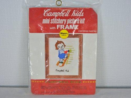 キャンベルキッズ フレーム付きミニ刺繍キット#3
