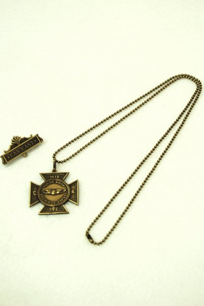 SOUTH ROAD IRON CROSS BROOCH NECKLACE