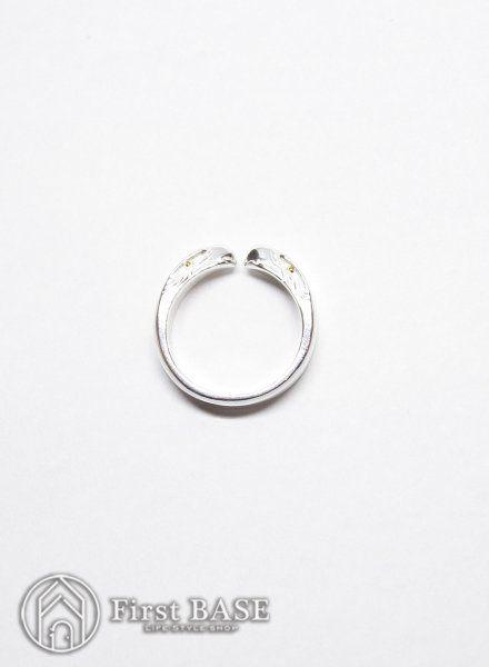 KEN KIKUCHI EAGLE FACE RING GOLD EYE