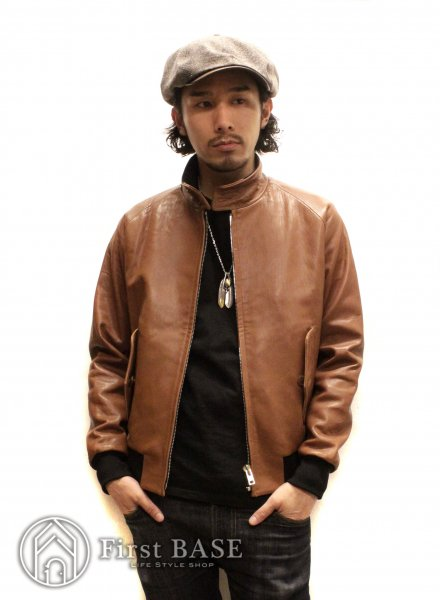 SOUTH ROAD × F1Rst-LIFE G9 LEATHER JACKET BROWN