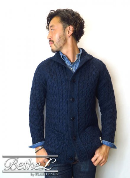 NAKED SUN/ネイキッドサン 3G FISHERMAN CARDIGAN NAVY