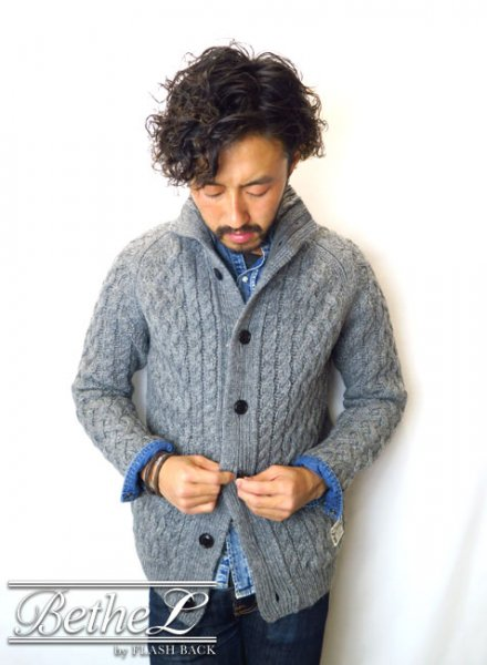 NAKED SUN/ネイキッドサン 3G FISHERMAN CARDIGAN GRAY