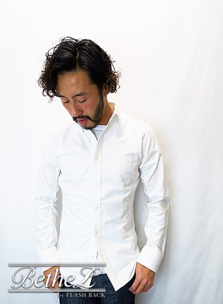 BATTALION/バタリオン OX SIDE JERSEY BD SHIRT WHITE