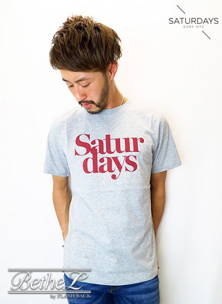 SATURDAYS NEW YORK CITY/サタデーズニューヨークシティ MILLER BLACK TEE ASH HEATHER