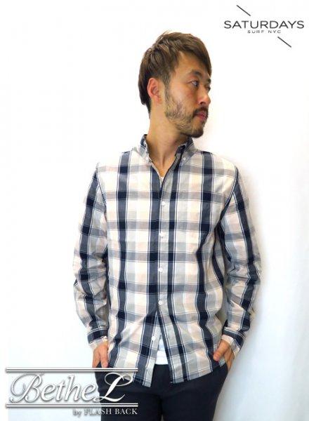 SATURDAYS NEW YORK CITY/サタデーズニューヨークシティ CROSBY MADRAS SHIRT