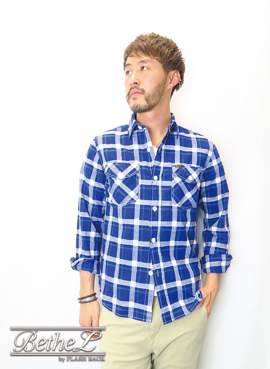 <img class='new_mark_img1' src='//img.shop-pro.jp/img/new/icons14.gif' style='border:none;display:inline;margin:0px;padding:0px;width:auto;' />Lee/リー WORK SHIRT BLUE