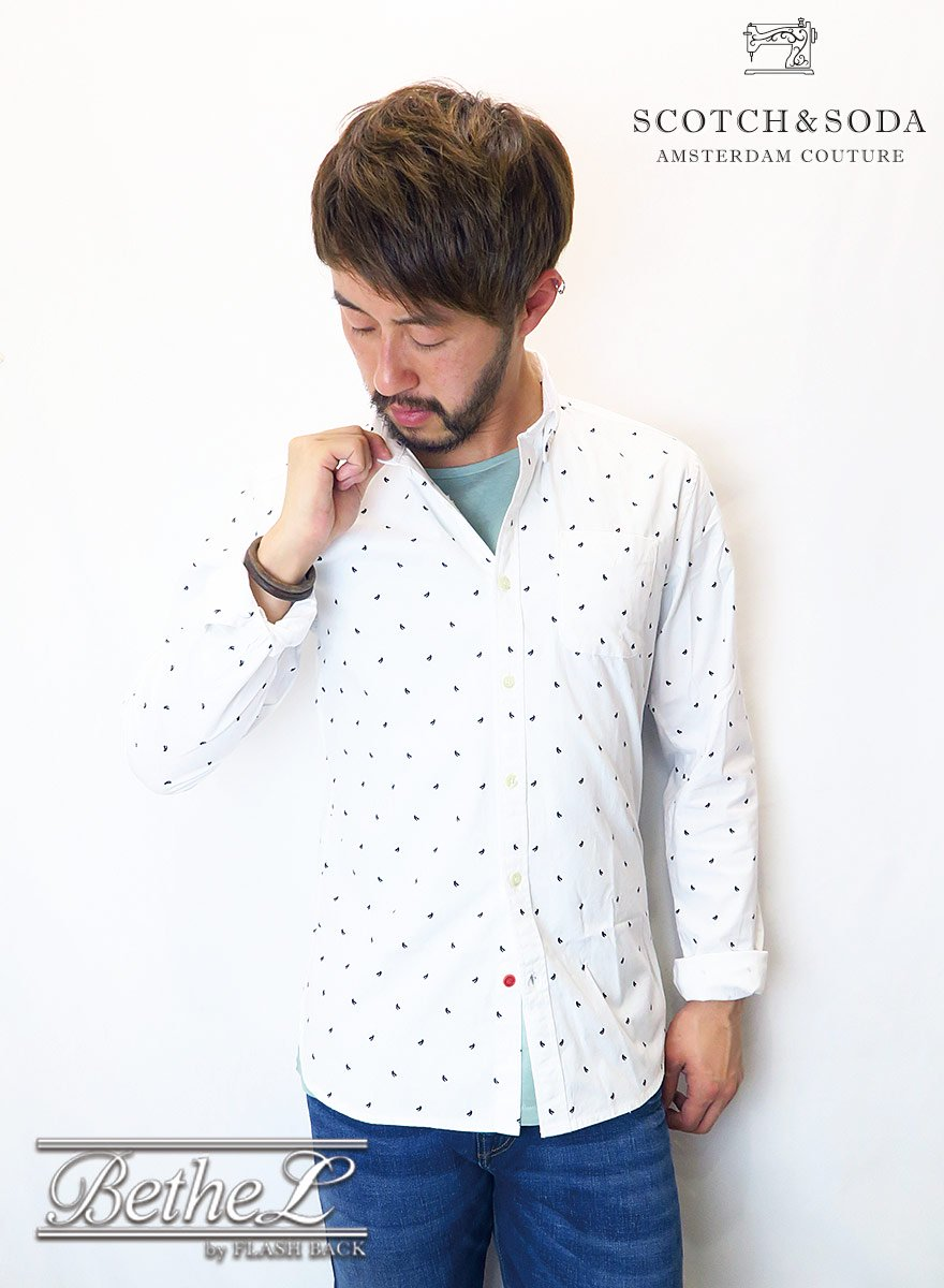 <img class='new_mark_img1' src='//img.shop-pro.jp/img/new/icons14.gif' style='border:none;display:inline;margin:0px;padding:0px;width:auto;' />SCOTCH&SODA/スコッチ&ソーダ PRINTED SLIM SHIRT
