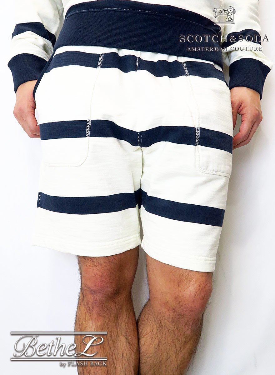 SCOTCH&SODA/スコッチ&ソーダ STRIPED SWEAT SHORTS HOME ALONE
