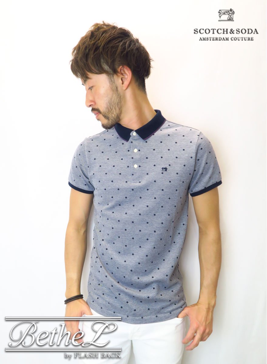 SCOTCH&SODA/スコッチ&ソーダ Polo With Contrast DOT