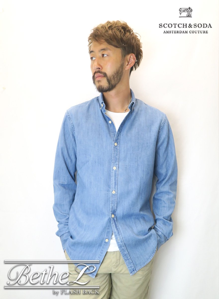 SCOTCH&SODA/スコッチ&ソーダ OVERSIZED CLEAN LOOK DENIM SHIRT