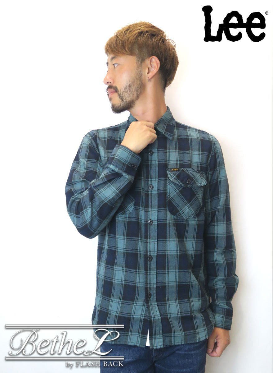 Lee/リー WORK SHIRT GREEN