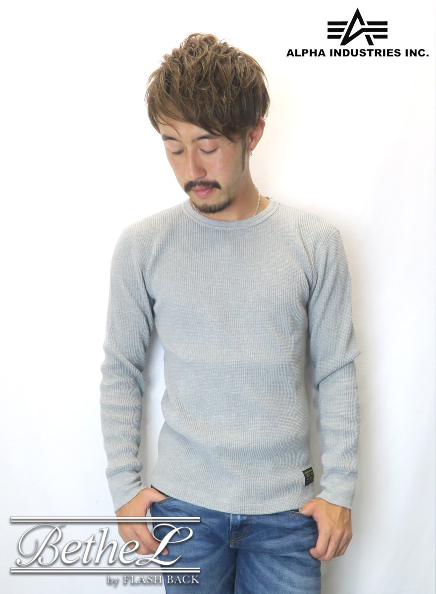 ALPHA/アルファ HEAVY WFL CREW NECK GRAY