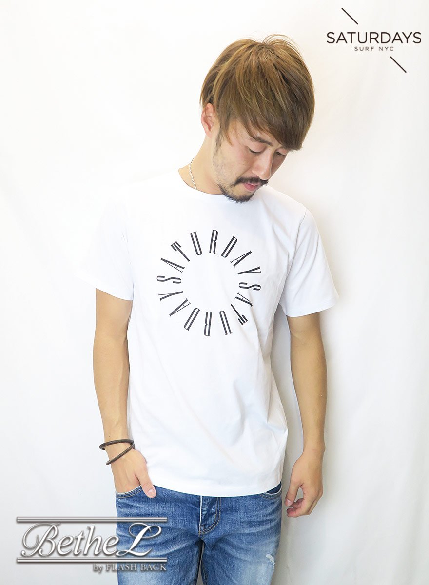 SATURDAYS NEW YORK CITY/サタデーズニューヨークシティ CONDENSED CIRCLE S/S TEE WHITE