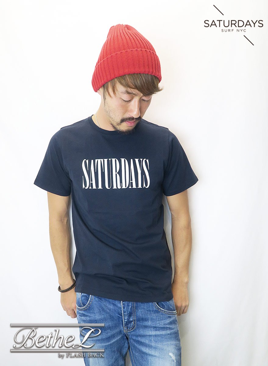 SATURDAYS NEW YORK CITY/サタデーズニューヨークシティ SATURDAYS CONDENSED S/S TEE MIDNIGHT