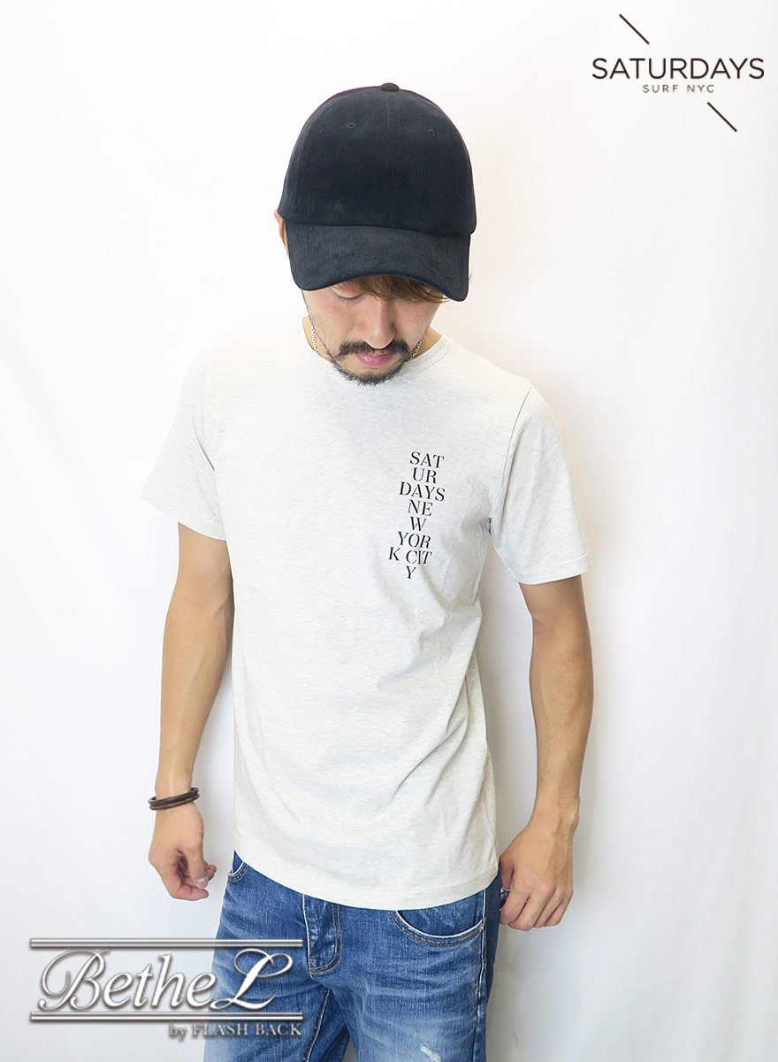 SATURDAYS NEW YORK CITY/サタデーズニューヨークシティ SATURDAYS STENCIL S/S TEE NATURAL HEATHER