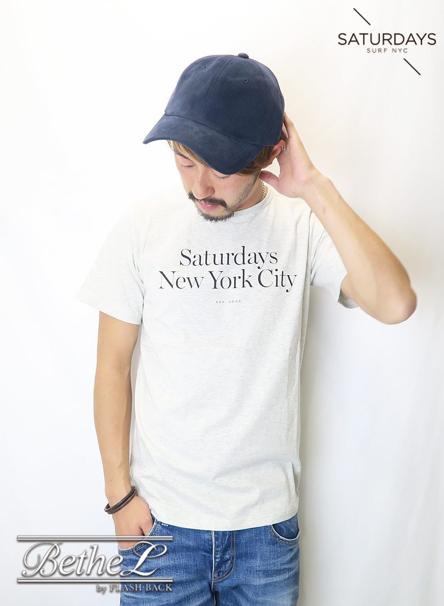 SATURDAYS NEW YORK CITY/サタデーズニューヨークシティ MILLER STANDARD S/S TEE NATURAL HEATHER