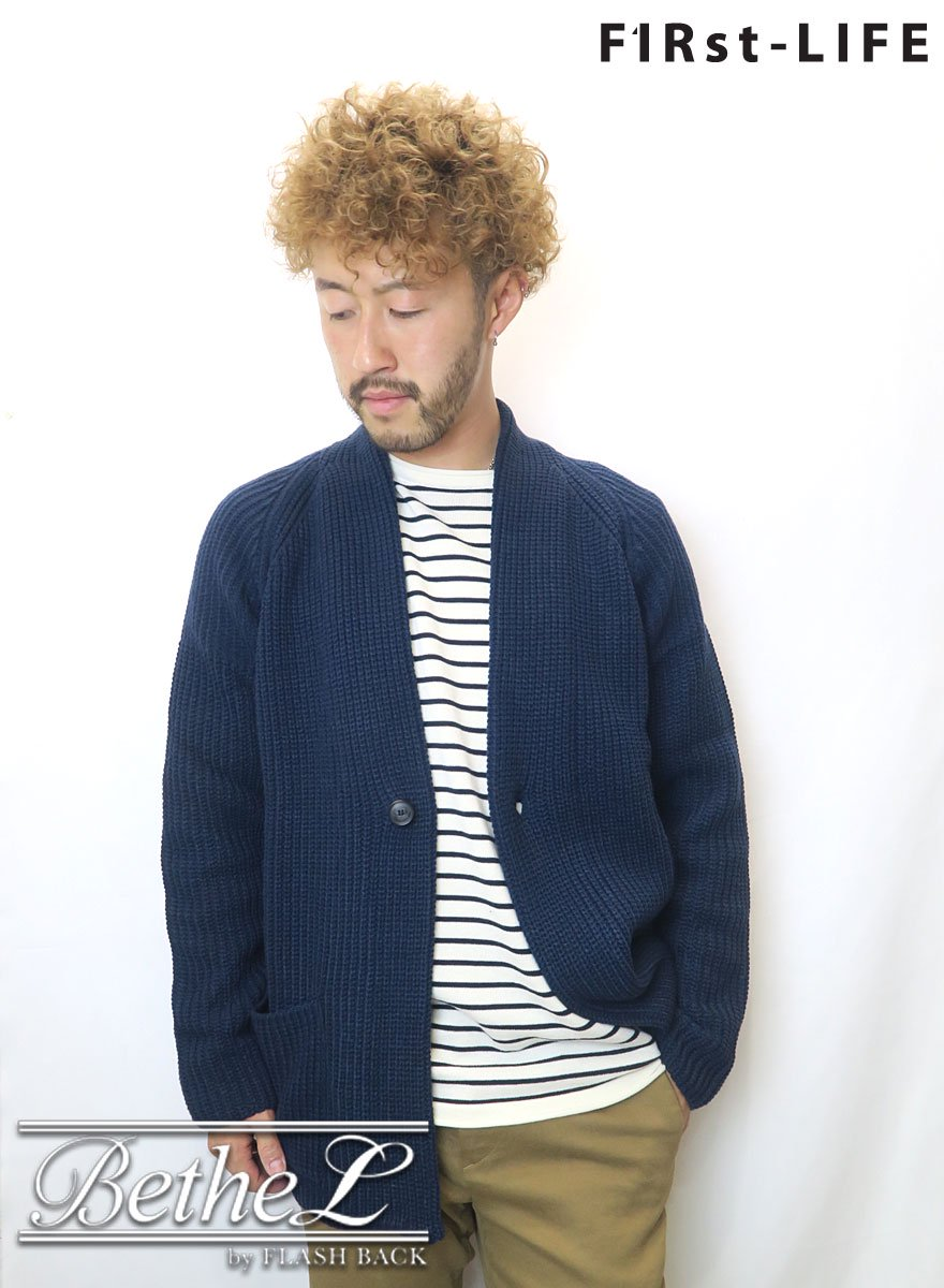 F1Rst LIFE/ファーストライフ GOWN KNIT CARDIGAN NAVY