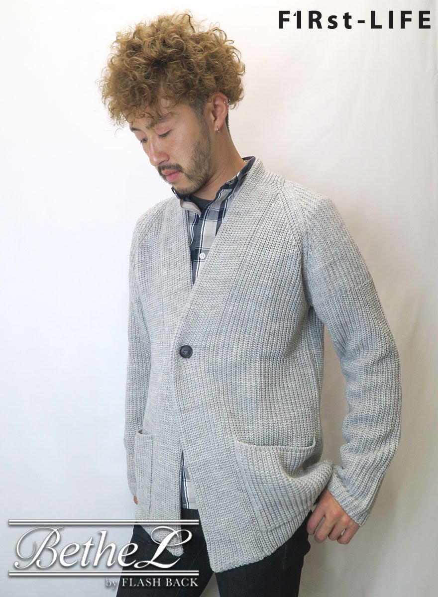 F1Rst LIFE/ファーストライフ GOWN KNIT CARDIGAN GRAY