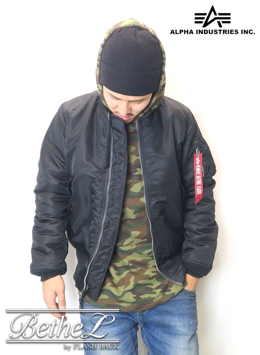 ALPHA/アルファ MA-1 TIGHT JKT NYLON BLACK
