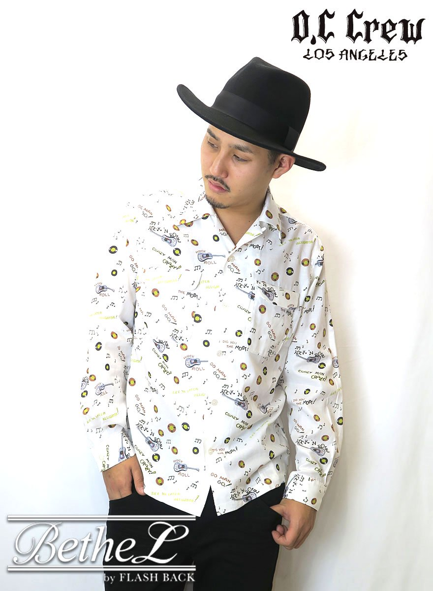 O.C CREW/オーシークルー ROCK'N ROLL SHIRT WHITE