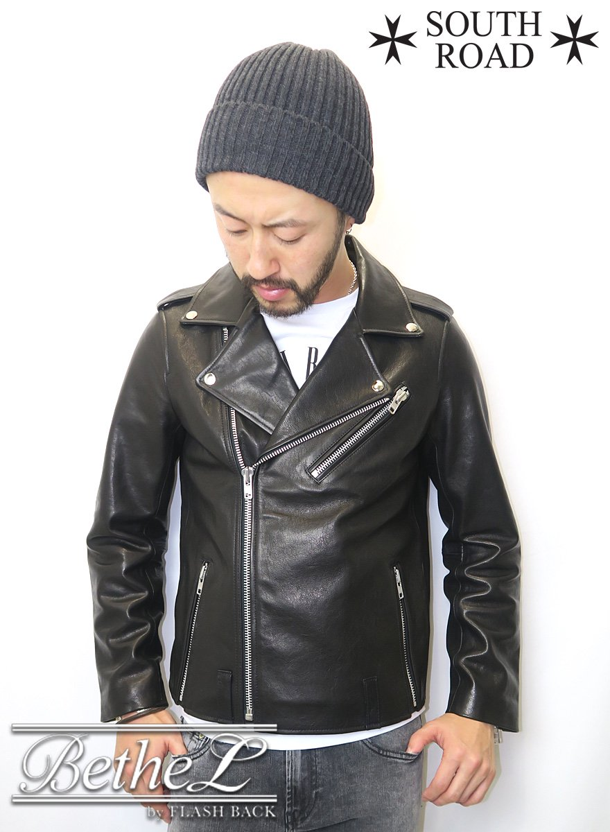 SOUTH ROAD/サウスロード SOUTH ROAD LEATHER DOUBLE RIDERS JACKET BLACK