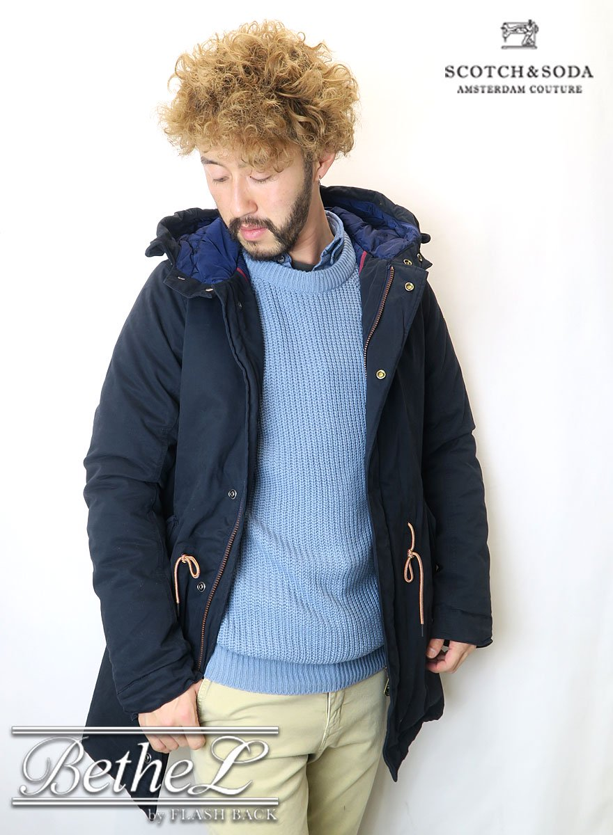 SCOTCH&SODA/スコッチ&ソーダ HOODED PARKA IN COTTON