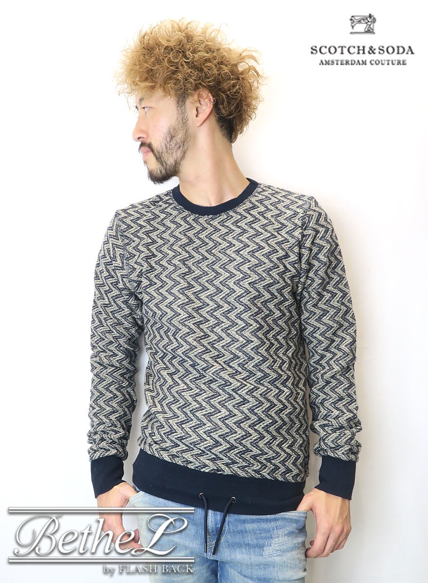 SCOTCH&SODA/スコッチ&ソーダ  Zig Zag Sweat Shirt