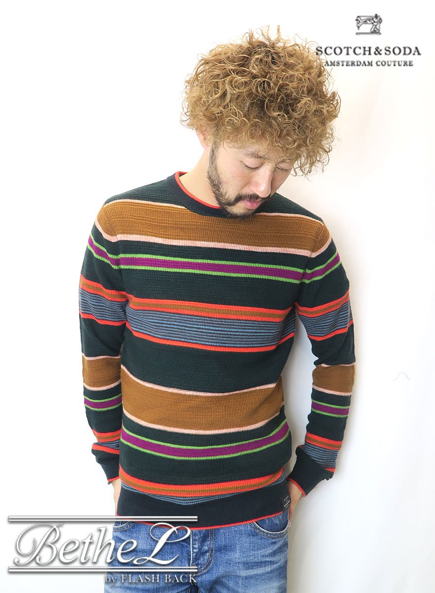 SCOTCH&SODA/スコッチ&ソーダ  Multi Color Round Neck Sweat Shirt