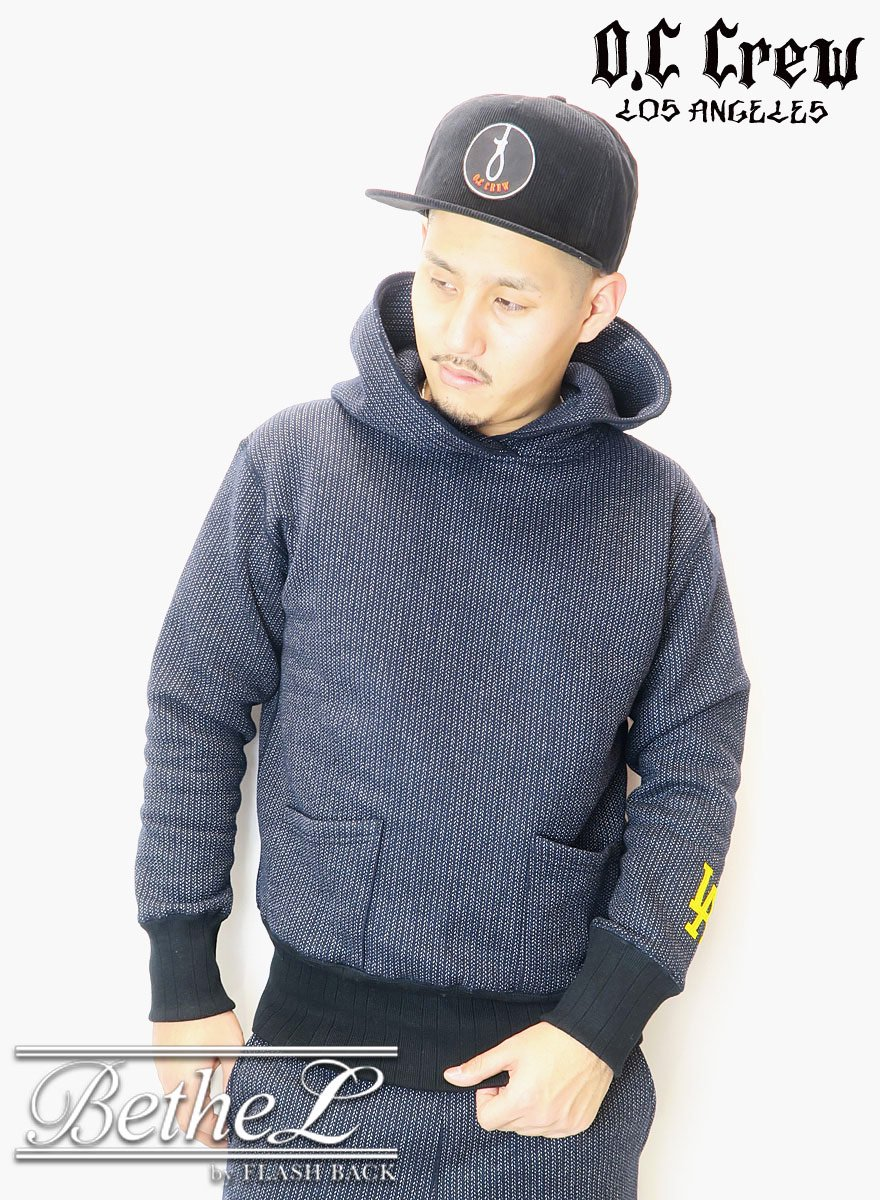 O.C CREW/オーシークルー BEACH CLOTH HOODIE BLACK